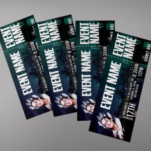 Night Party Ticket Design