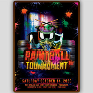 Paintball Game Flyer Template