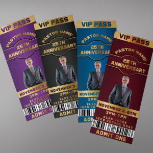 Pastor Anniversary Ticket Template