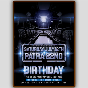 Party Bus Flyer Template