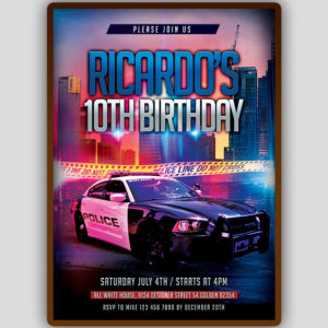 Police Birthday Invitation Template