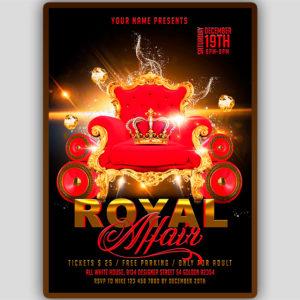 Royal Affair Flyer Template