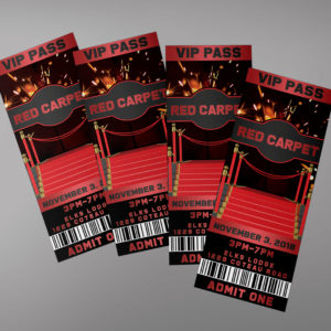 Red Carpet Ticket Template