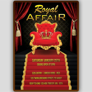 King Party Flyer Template