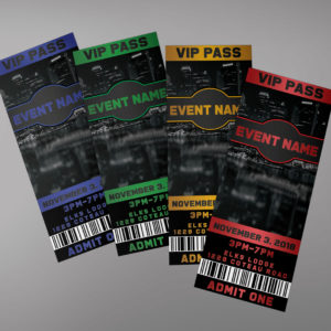 Night Party Tickets Design