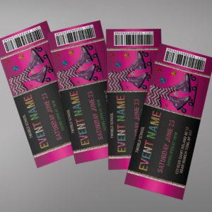 Roller Skate Ticket Invitation