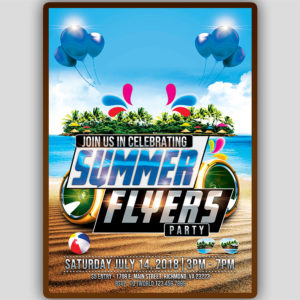 Summer Birthday Party Flyer