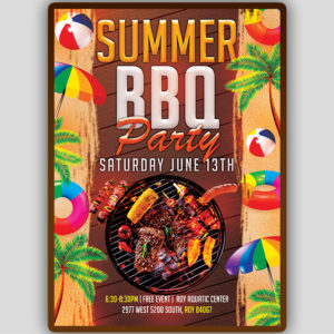 Summer BBQ Party Flyer