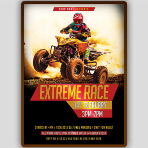 ATV Motocross Flyer Template