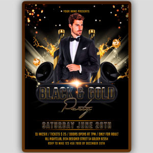 VIP Black and Gold Flyer Template
