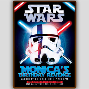 Star Wars Party Flyer Template