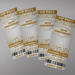 Gold Sparkly Ticket Design
