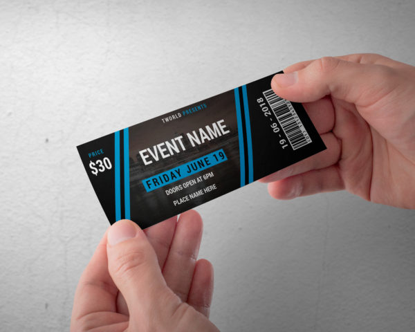 Event Ticket Design Editable