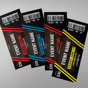 Event Ticket Design Editable