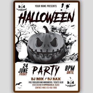Halloween Night Flyer Design