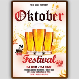 Oktober Festival Flyer Template