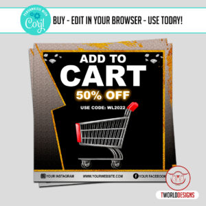 Social Media Add to Cart Flyer