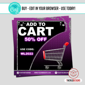 Social Media Add to Cart Product Marketing Flyer