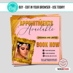 Editable Appointment Flyer