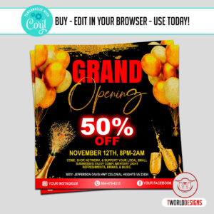 Hair Shop Grand Opening flyer