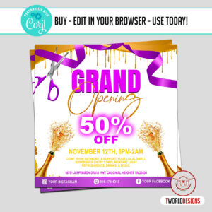 Hair Store Grand Opening flyer