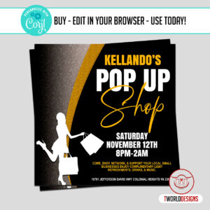 Social Media Pop up Shop Flyer