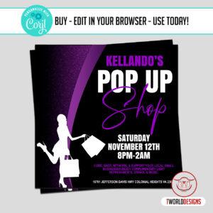 DIY Pop up Shop Sale Flyer