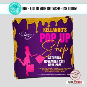 Editable Pop up Shop Flyer