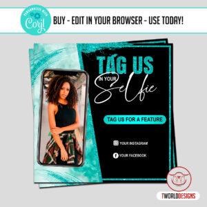 DIY Send Us Your Selfies Flyer