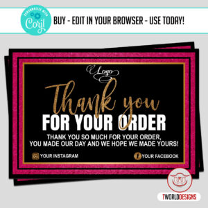 Customers Thank You Card Template