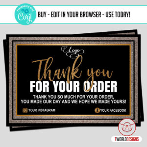 Edit Yourself Thank You Cards Design