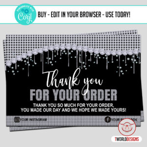 Diamond Thank You Cards for Customers