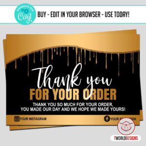 Thank You Cards for Customer