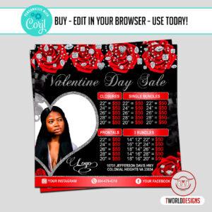 Business Valentines Day Sale Flyer