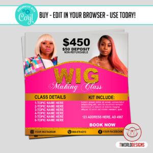 Wig Class Flyer