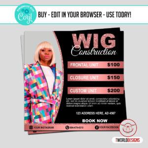 Wig Sale Flyer