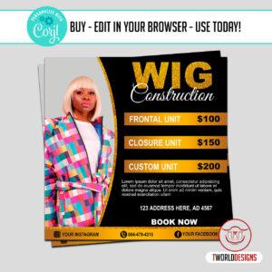 Wig Construction Flyer