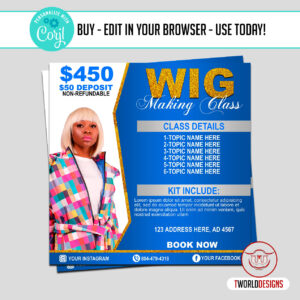 Wig Making Class Flyer