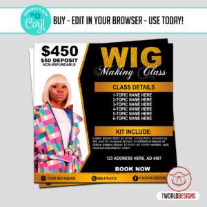 Wig Course Flyer
