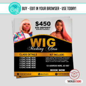 Wig Making Course Flyer